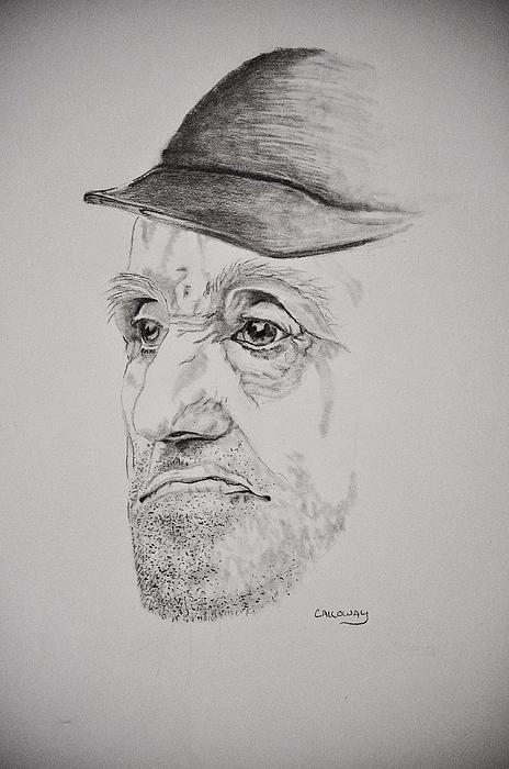 Man Drawing - Man In Cap by Glenn Calloway