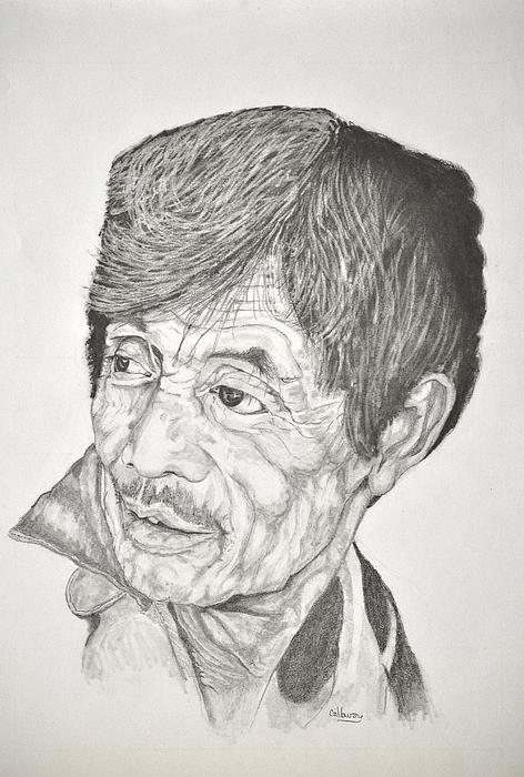 Man Drawing - Man Looking Back by Glenn Calloway