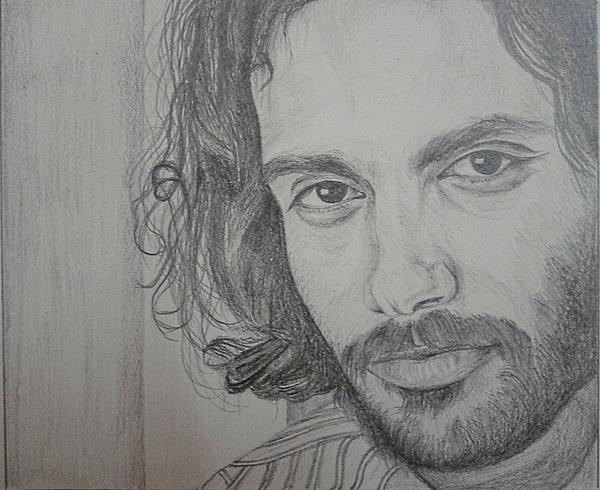 Man Drawing by Lupamudra Dutta