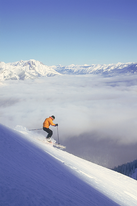 Man Skiing In British Columbia , Canada Photograph by Comstock