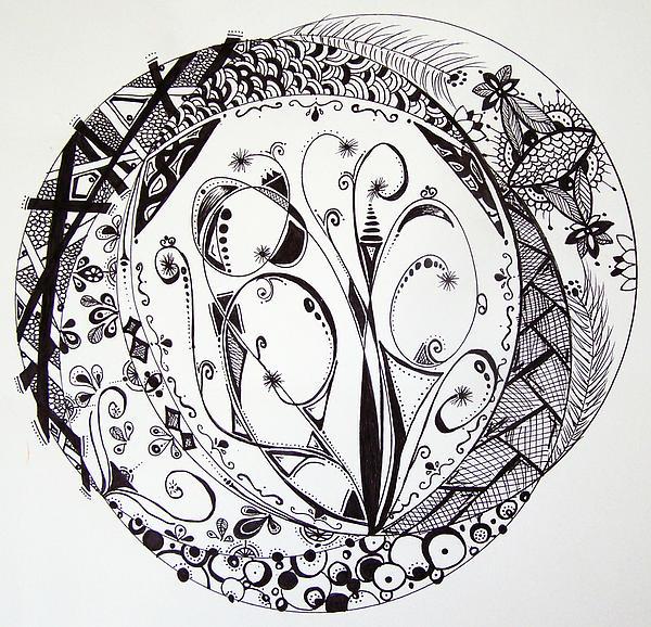 Mandala Drawing - Mandala #1 by Lori Thompson