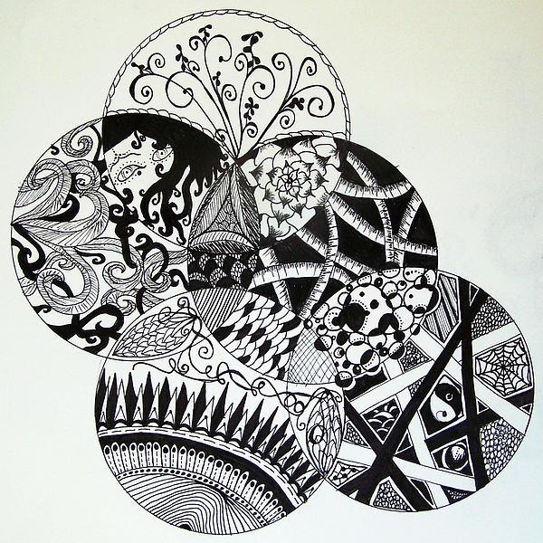 Mandala Drawing - Mandalas by Lori Thompson