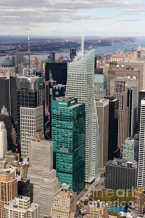 Architectural Photograph - Manhattan Bryant Park Aerial by Jannis Werner