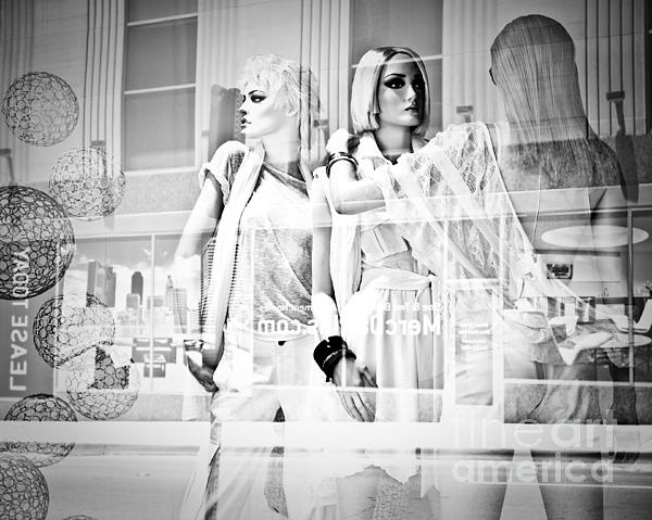 Mannequins Photograph - Mannequins In White by Sonja Quintero