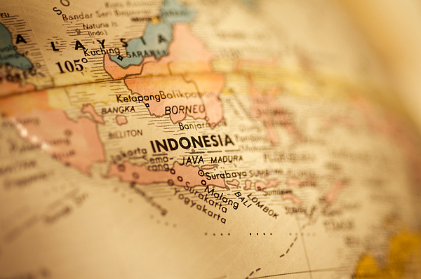 Map Of Indonesia Photograph by Kativ