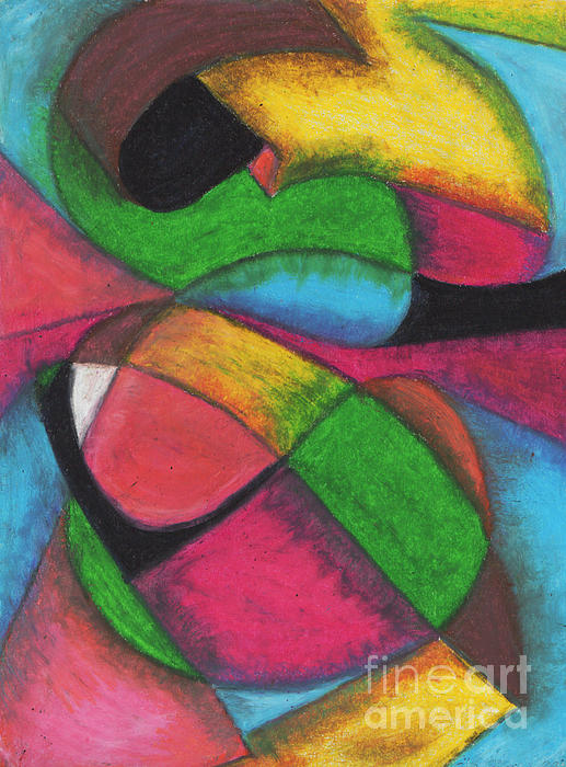 Abstract Painting - Mardi Gras by Ellen Howell