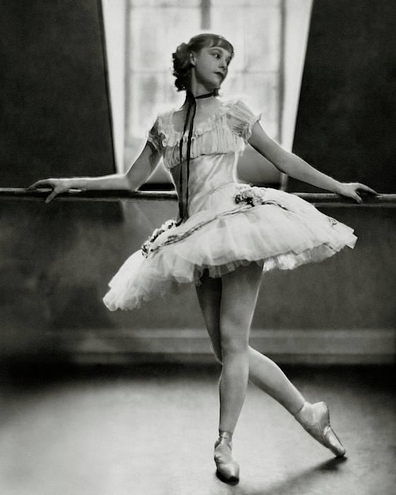 Margaret Petit At The Barre Photograph by Nickolas Muray