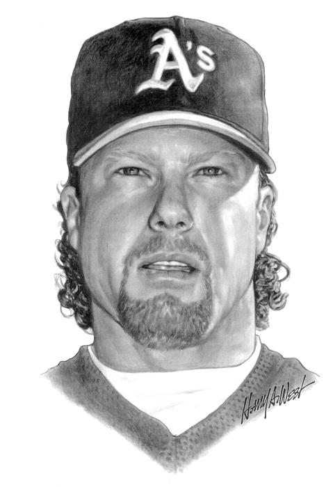 Mark Mcgwire Drawing - Mark Mcgwire by Harry West