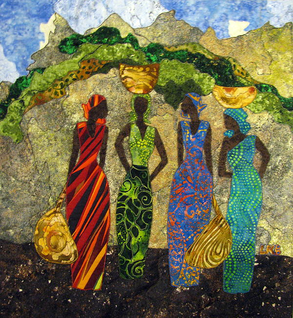 Women Tapestries - Textiles Tapestry - Textile - Market Day #1 by Lynda K Boardman