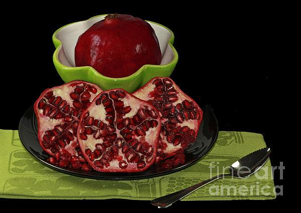Market Photograph - Market Fresh Pomegranate Fruit by Inspired Nature Photography Fine Art Photography