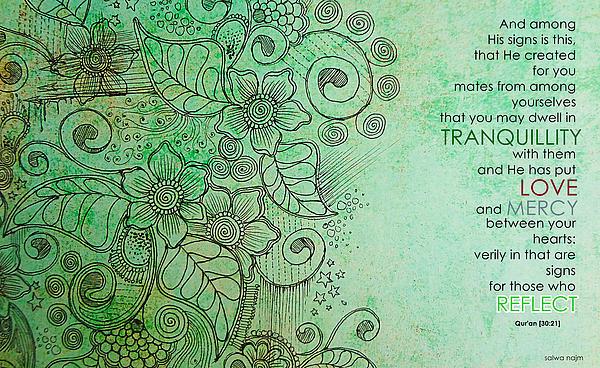 Muslim Drawing - Marriage In Islam by Salwa  Najm