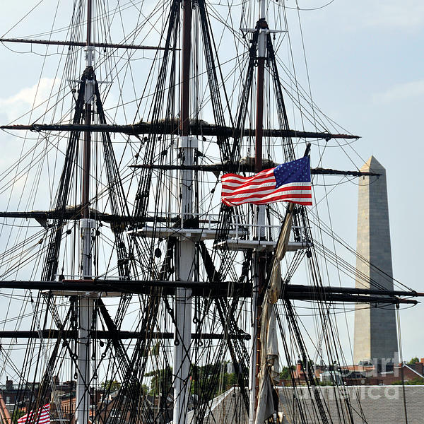 Uss Constitution Photograph - Mast And Flag by Cheryl McClure