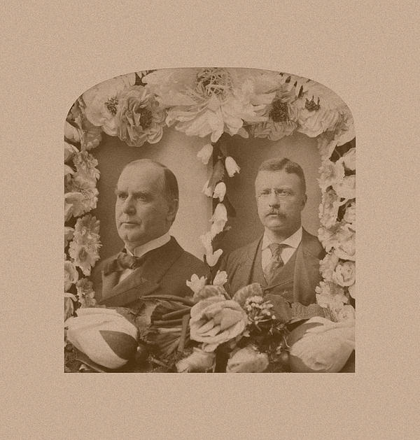 William Mckinley Photograph - Mckinley And Roosevelt by War Is Hell Store