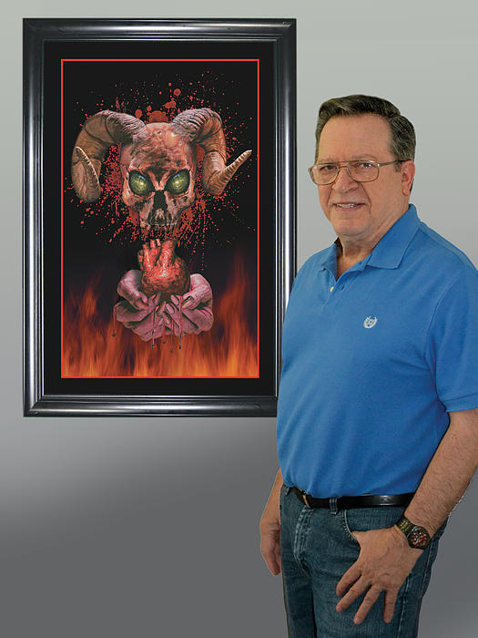 Me And Hells Heart Art Pyrography by Harold Shull