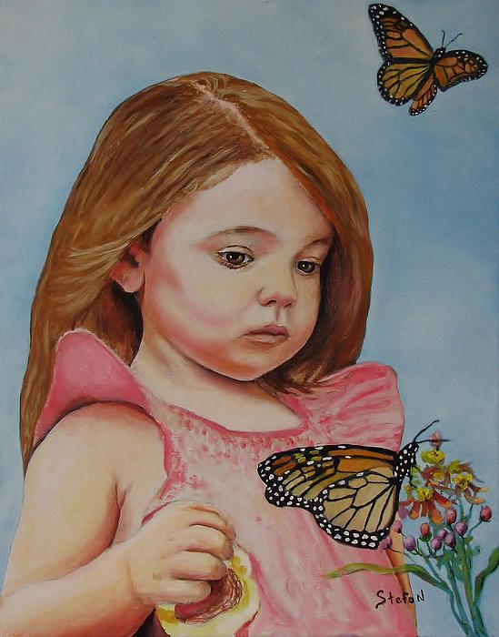 Girl Painting - Memories by Stefon Marc Brown