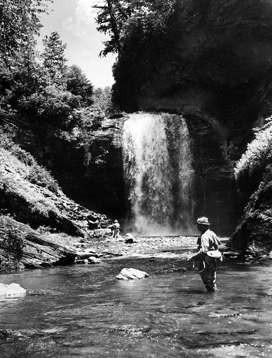 Retro Images Archive Photograph - Men Trout Fishing by Retro Images Archive