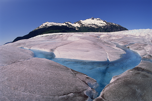 Mendenhall Ice Glacier , Juneau , Alaska Photograph by Comstock
