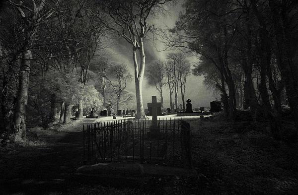 Cemetery Menlo Galway Ireland Pskeltonphoto Prints Photograph - Menlo Cemetery by Peter Skelton