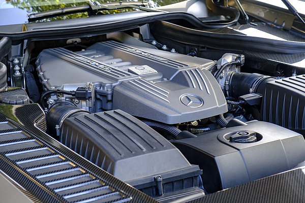 Mercedes-amg Sls Sports Car V8 Engine Photograph by Sjo