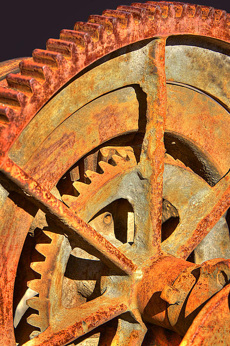 Gears Photograph - Meshing Gears by Phyllis Denton