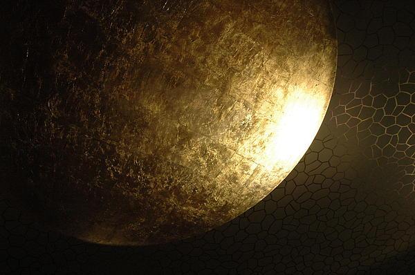 Planet Photograph - Metallic Moon by Kathy Schumann