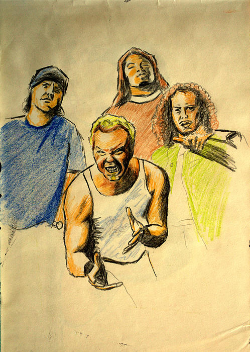 Mettalica Drawing by Salman Ravish