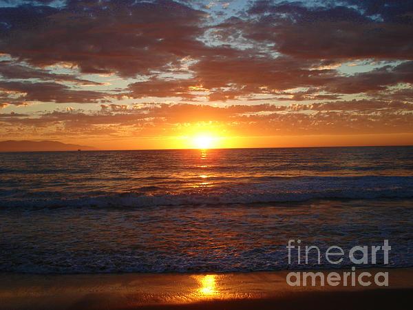 Ocean Photograph - Mexico Sunset by Crystal Joy Photography