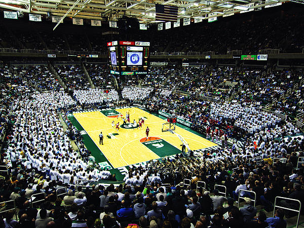 Michigan State University Photograph - Michigan State Spartans Jack Breslin Student Events Center by Replay Photos