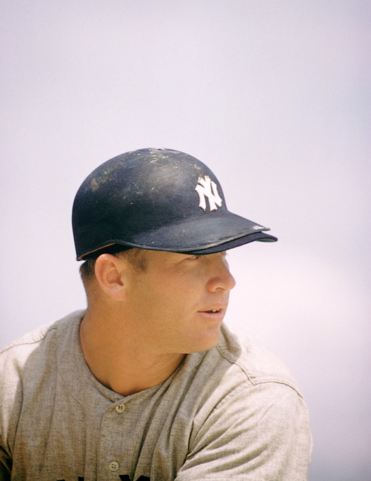 Marvin Newman Photograph - Mickey Mantle Ready To Swing by Retro Images Archive