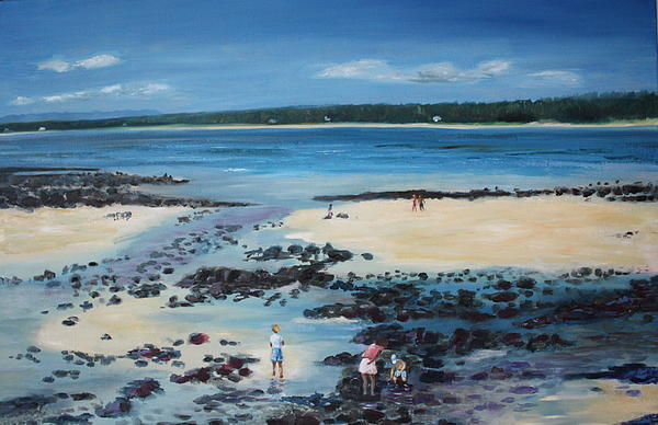 Beach Painting - Midday At Poste-lafayette by Brigitte Roshay