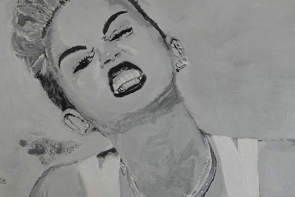 Miley Painting - Miley Cyrus by Terence Leano