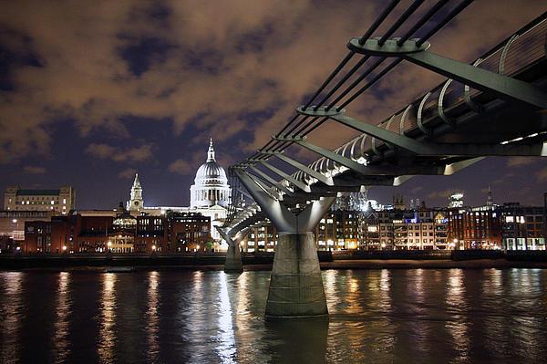 Millennium Bridge Photograph - Millennium Bridge by Stephen Norris