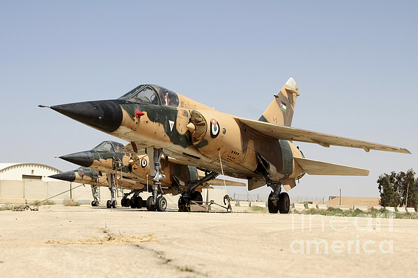 Military Photograph - Mirage F.1 Fighter Planes Of The Royal by Ofer Zidon