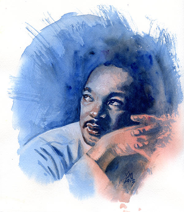 Martin Luther King Jr Painting - Mlk Day by Ken Meyer
