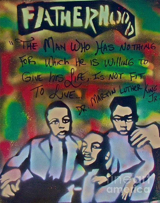 Occupy Painting - Mlk Fatherhood 1  by Tony B Conscious