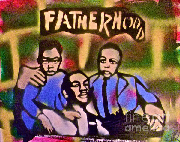 Occupy Painting - Mlk Fatherhood 2 by Tony B Conscious