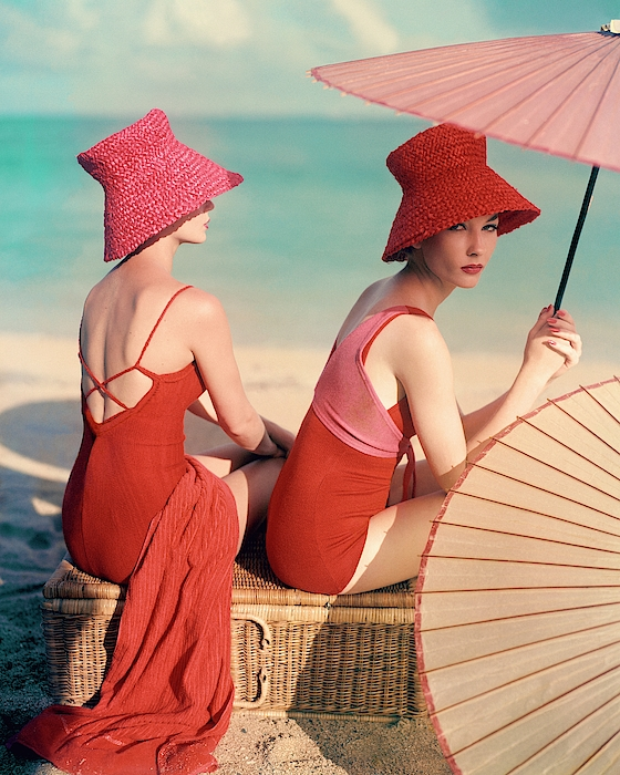 Models At A Beach Photograph by Louise Dahl-Wolfe