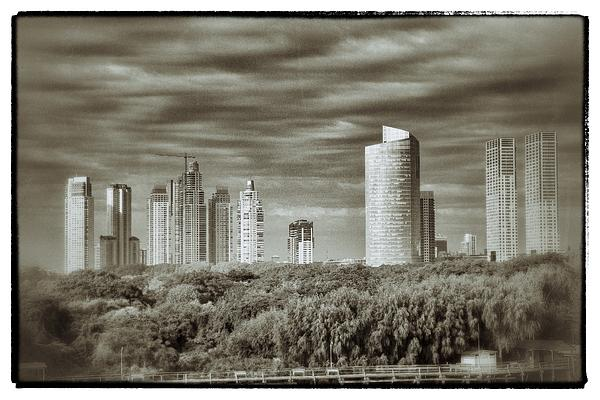 Buenos Aires Relief - Modern Buenos Aires Black And White by For Ninety One Days