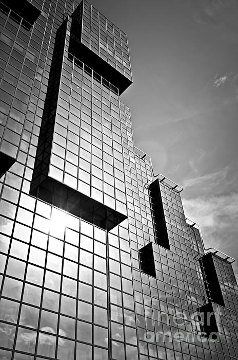Building Photograph - Modern Glass Building by Elena Elisseeva