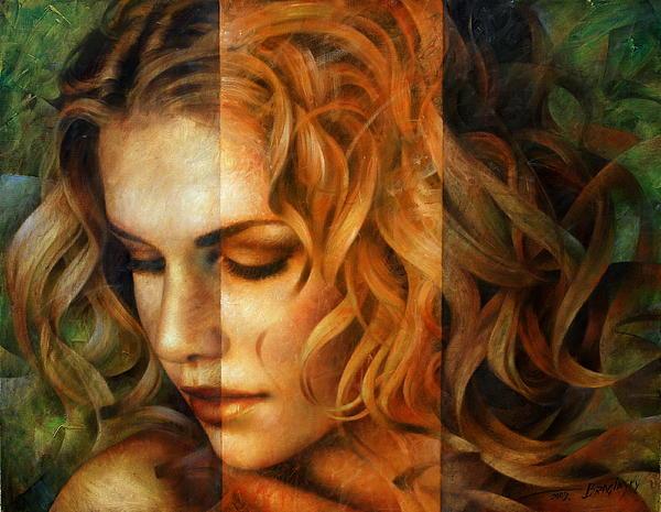 Portrait Paintings Painting - modified version of Portrait by Arthur Braginsky