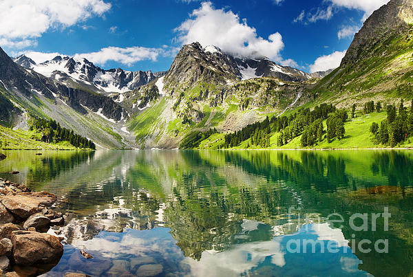 Mointain  Photograph - Mointain And Lake by Boon Mee