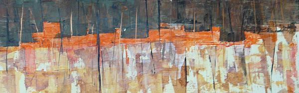 Acrylic Painting - Mojave Skyline by Buck Buchheister