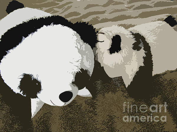 Giant Panda Photograph - Mommy Mommy I Will Tell You A Secret by Ausra Huntington nee Paulauskaite