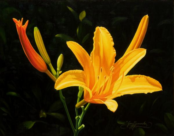 Floral Painting - Monikas Lily by Gary  Hernandez