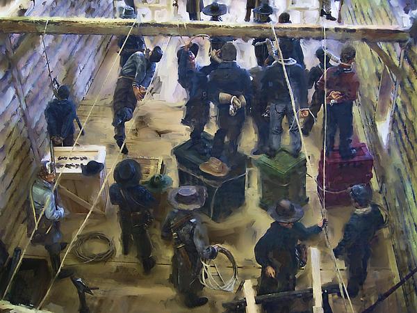 Montana Digital Art - Montana Justice   January 14 1864 by Daniel Hagerman