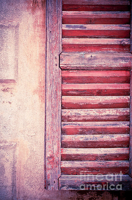 Weathered Photograph - Moody Weathered Shutter by Silvia Ganora
