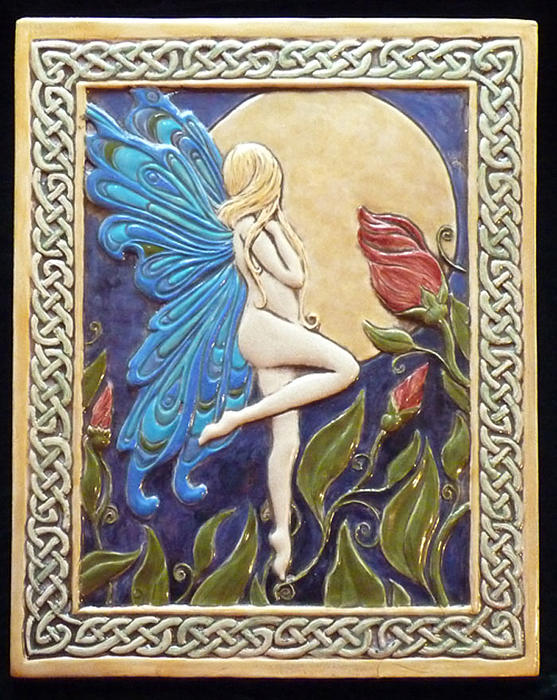 Clay Relief - Moon Fairy by Shannon Gresham
