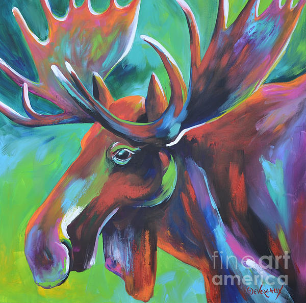 Horse Painting - Moose by Cher Devereaux