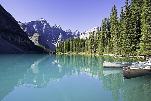 Light Photograph - Moraine Lake And Valley Of The Ten by Ken Gillespie