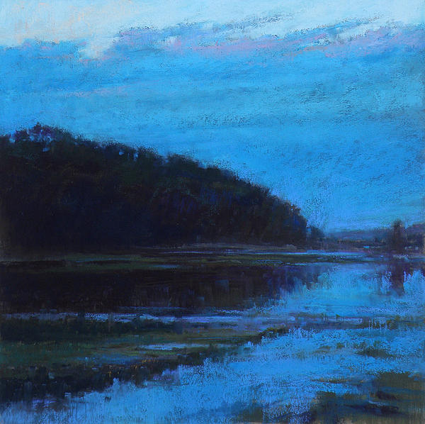 Morning Painting - Morning Blues by Ed Chesnovitch